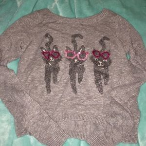 Hollister cat sweater